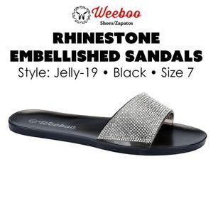 Rhinestone Embellished Sandals